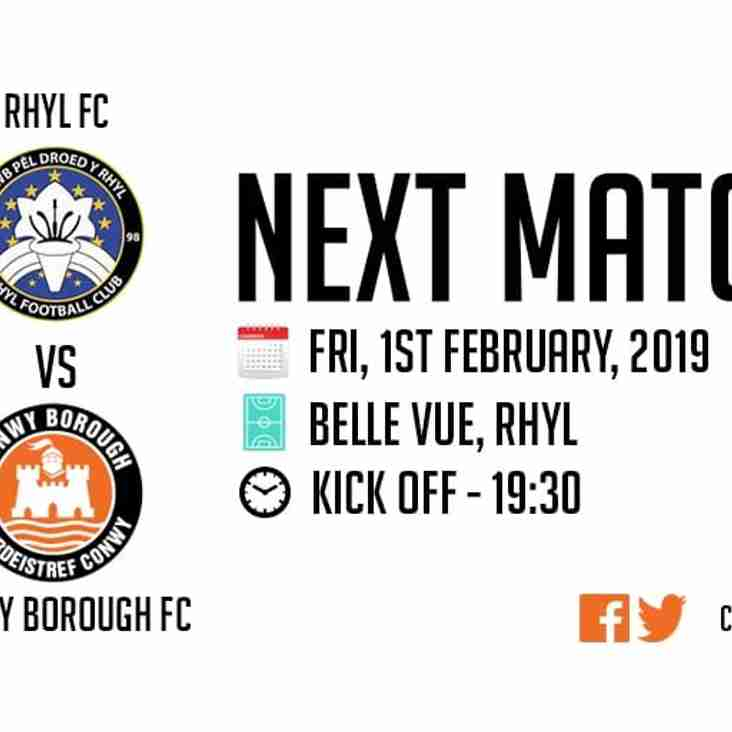 Match Postponed - Rhyl FC