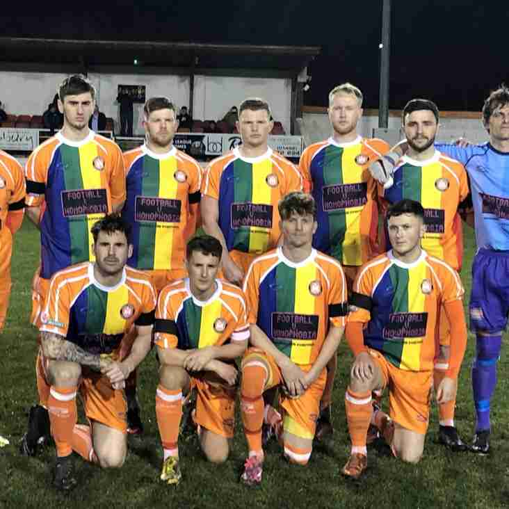 Borough make Welsh football history by wearing the rainbow shirt to support Football v Homophobia