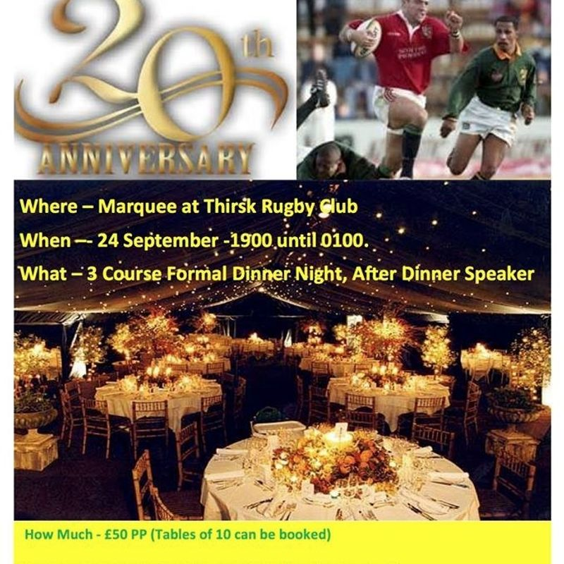 20th Anniversary Ball - tickets now available