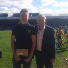 Under 17 player Calum earns his level 1 coaching  award