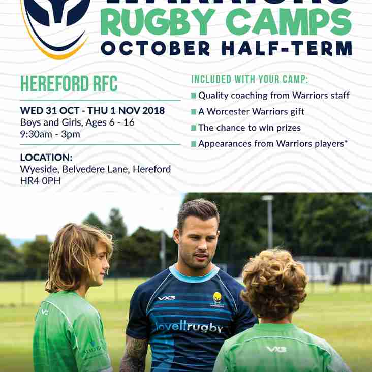 Rugby camp for minis and juniors