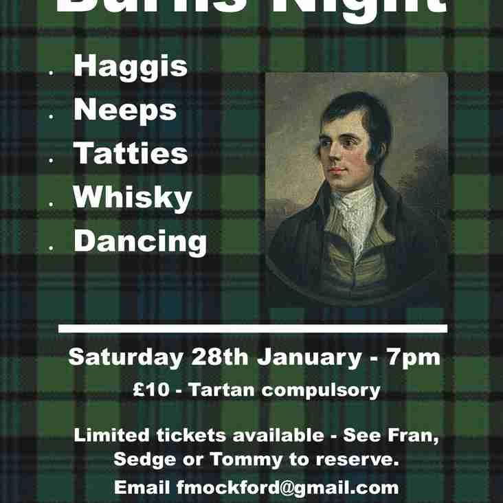 Burns Night - Saturday 28th January