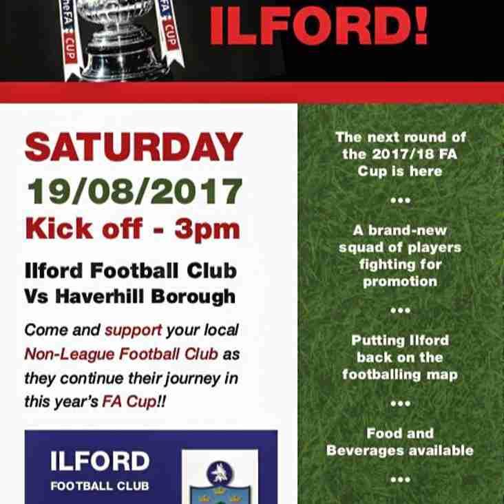 THE FA CUP COMES TO ILFORD!