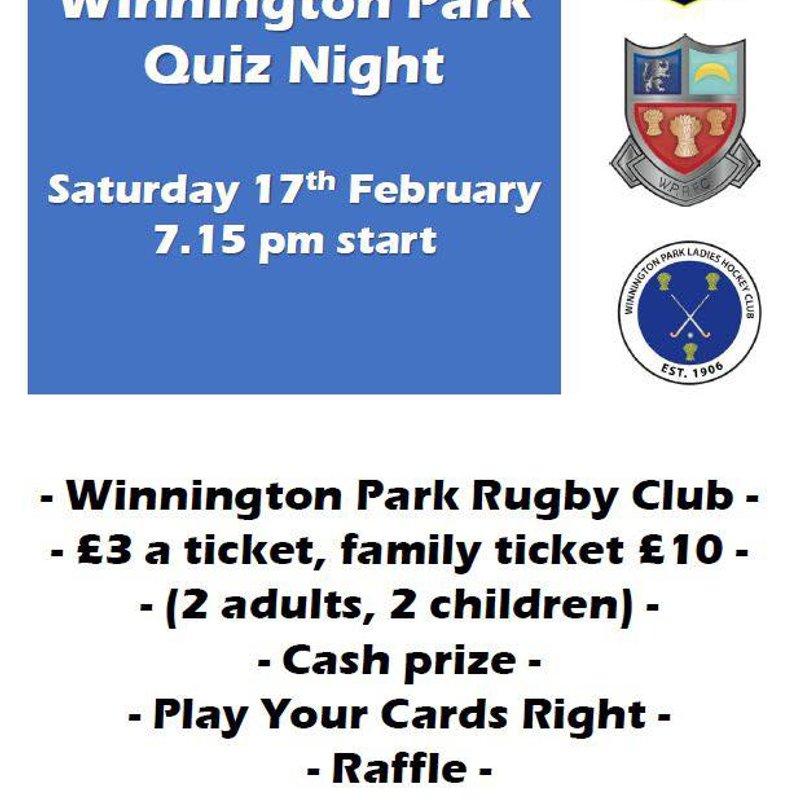 Winnington Park Quiz Night