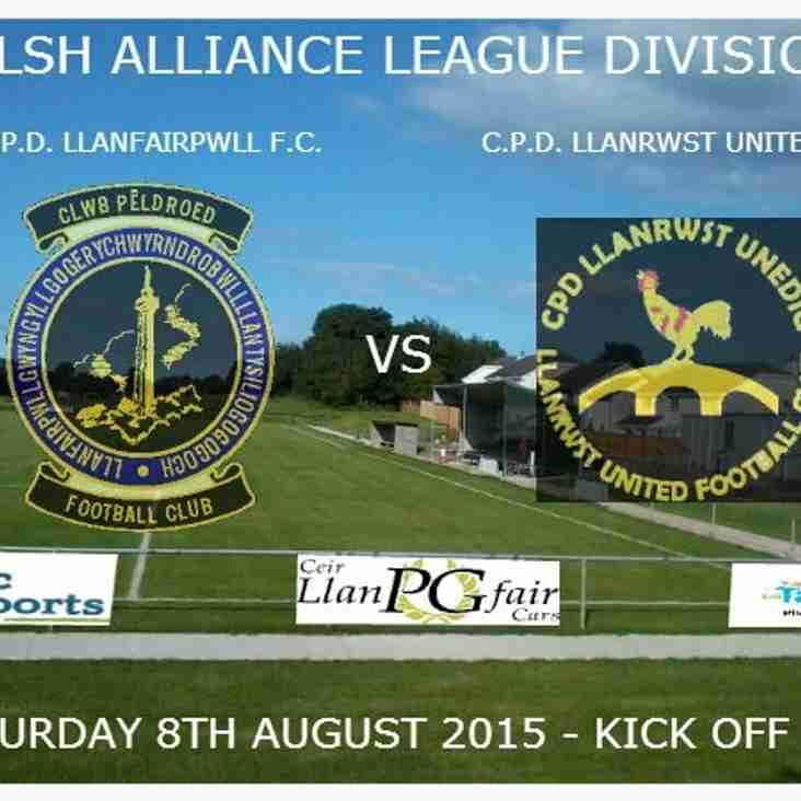 Welsh Alliance Division 1 - 08/08/2015