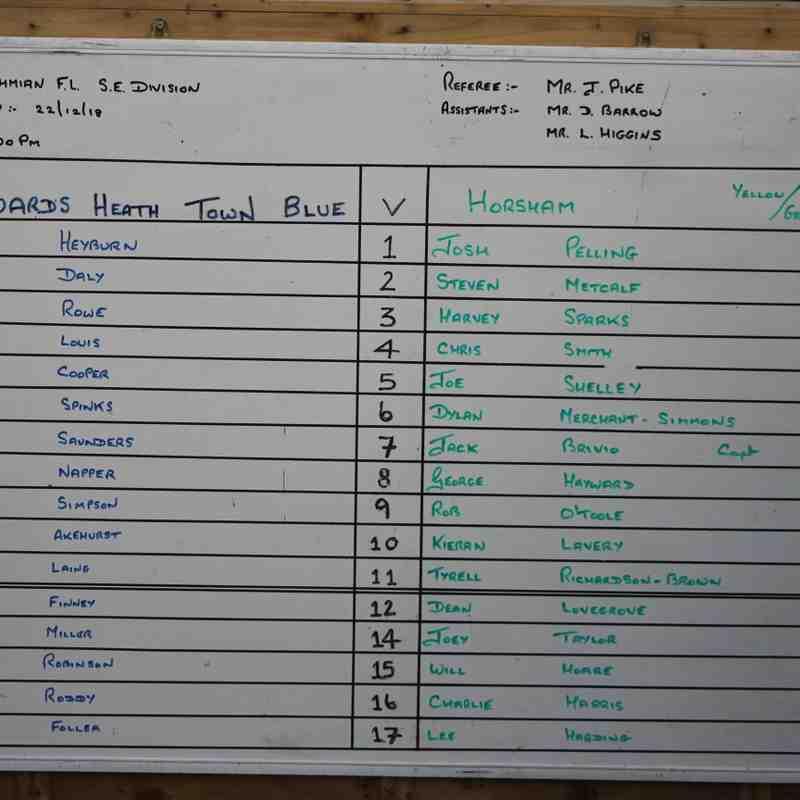 Heath Vs Horsham 22nd Dec 18 by Tony Sim