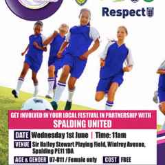 FREE Spalding United Girls & Goals Football Event - Wed 1st June