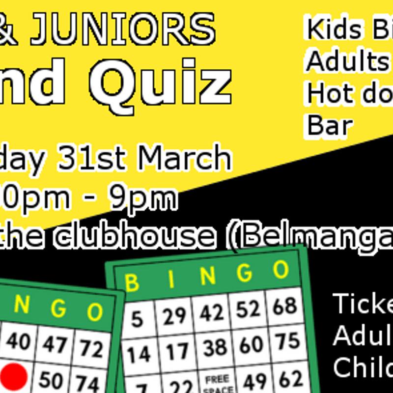 Minis and Juniors Bingo and Quiz