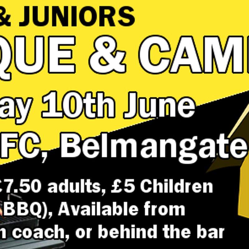 Minis & Juniors BBQ and Camping, Sat/Sun 10th June