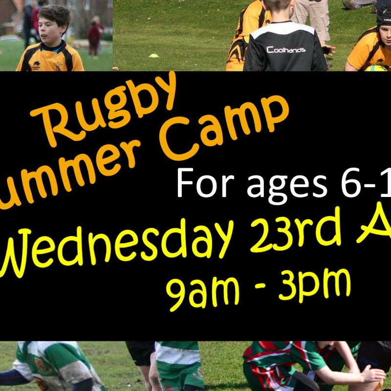 Minis Rugby Summer Camp - Wed 23rd August
