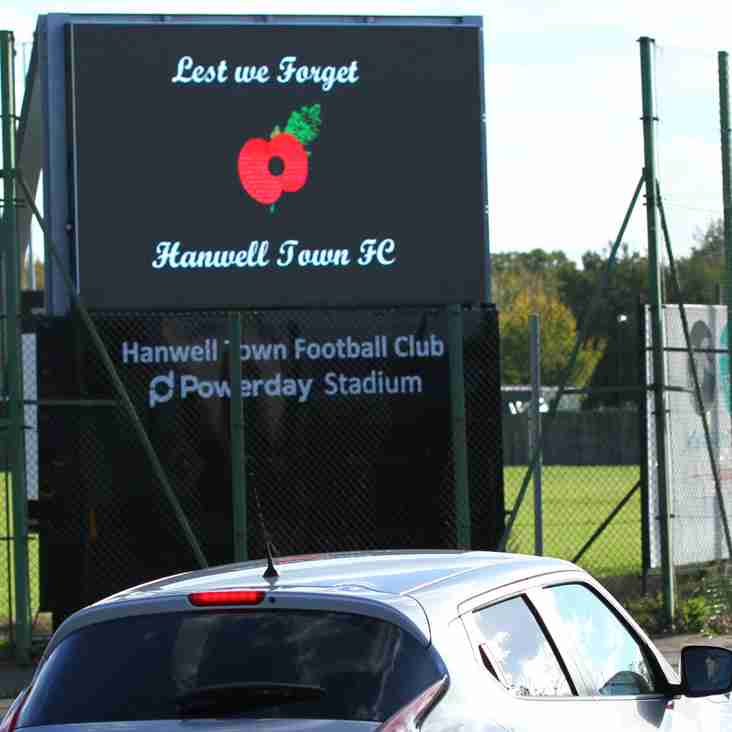 Lest We Forget 1918 - 2018   Hanwell Town Football Club