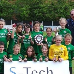 Sawston Girls FC - U12 - DOUBLE WINNERS - 11th May 2013