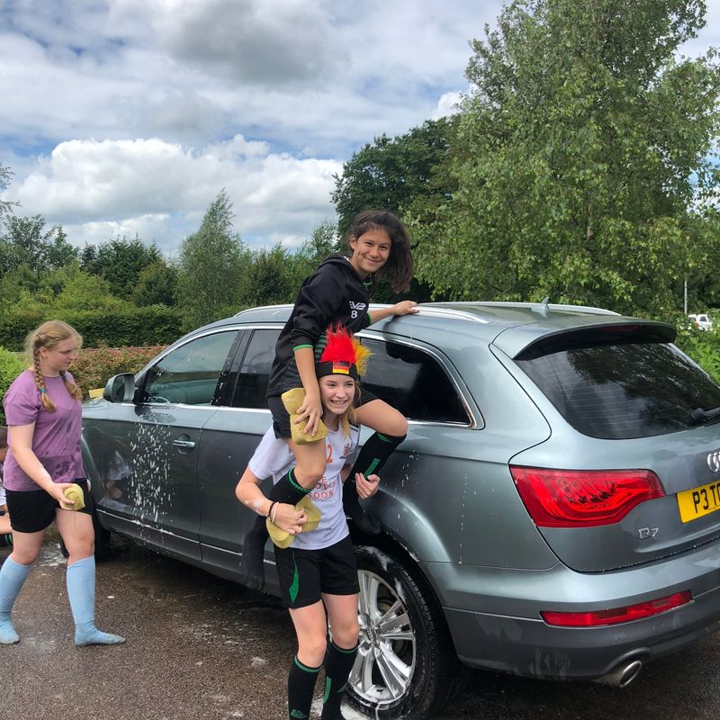 Sawston Girls Car Wash is a huge success !