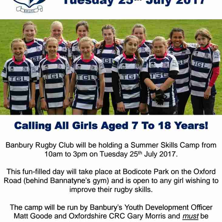 Just For Girls Rugby Camp
