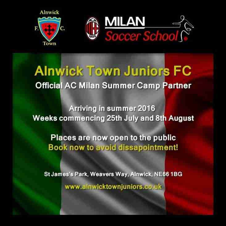 AC Milan Summer Camp Places Now Open!
