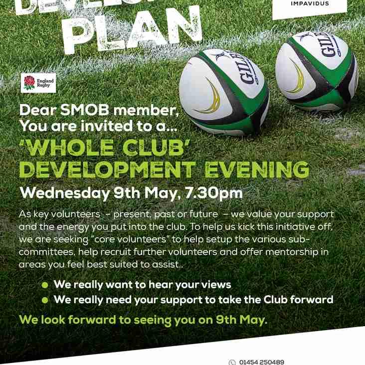 Whole Club  Development - Members please read