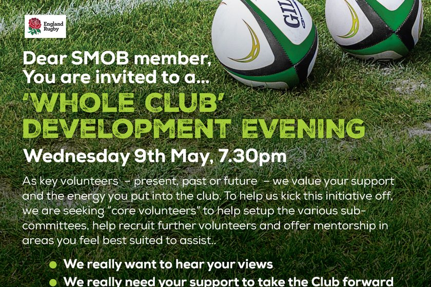Whole Club  Development - Members please read