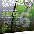 Whole Club Working Parties Meeting