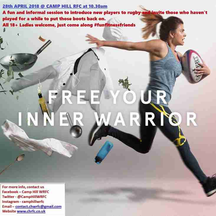 Inner Warrior Event 28.04.18 at 10.30am