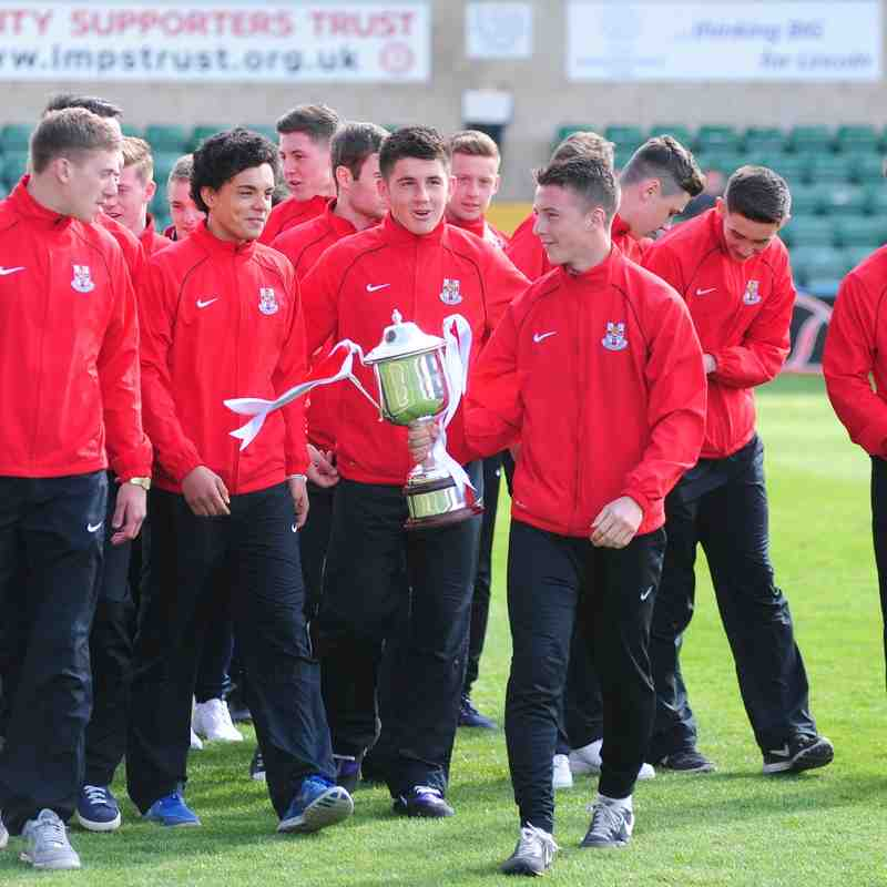 2014 Youth Team Parades Midland Youth Cup at Sincil Bank