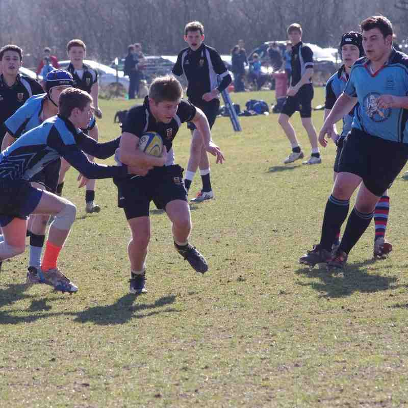 U16 - Woodbridge (20) vs (21) Colchester (Suffolk Cup final) 8th March 2015