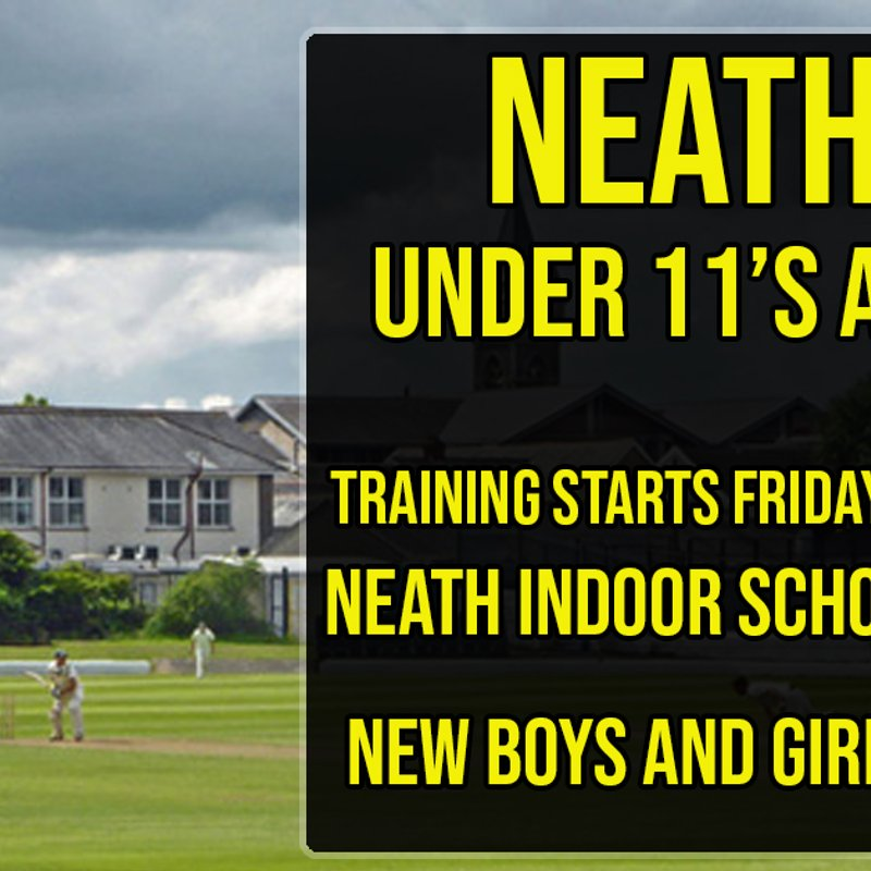 Under 11 & 10's training starts March 8th 4-6PM