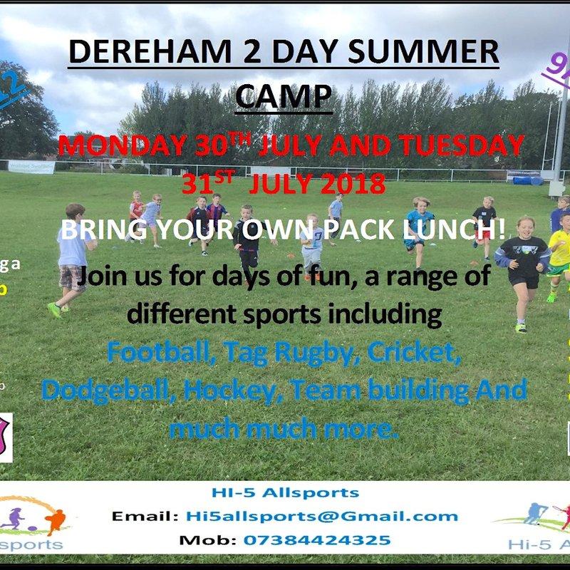 Hi-5 Allsports comes to Dereham Rugby Club