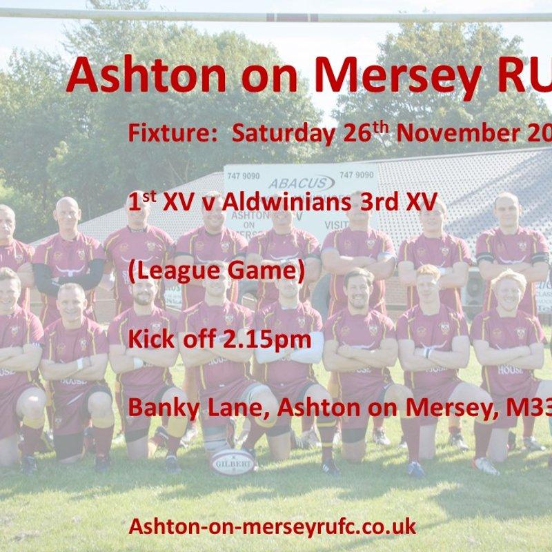Rugby Action this Saturday 26th November at Banky Lane