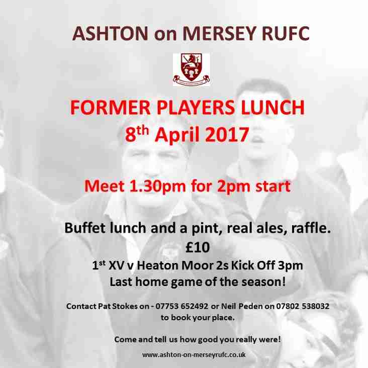 Former Players Lunch & last home game of the season