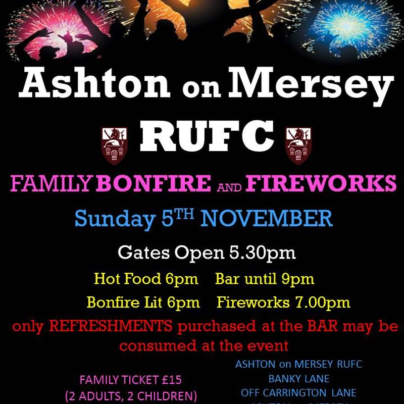 Annual Bonfire and Fireworks Display - Sunday 5th November from 6pm