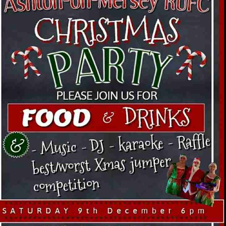 Club Christmas Party Sat 9th Dec from 6pm
