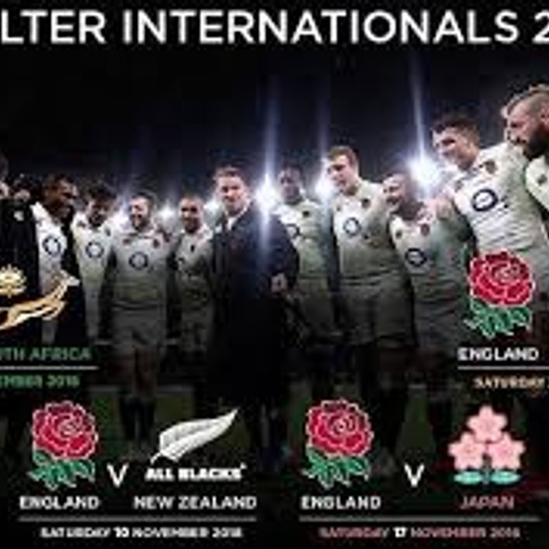 Ticket news - England  Autumn Internationals 2018