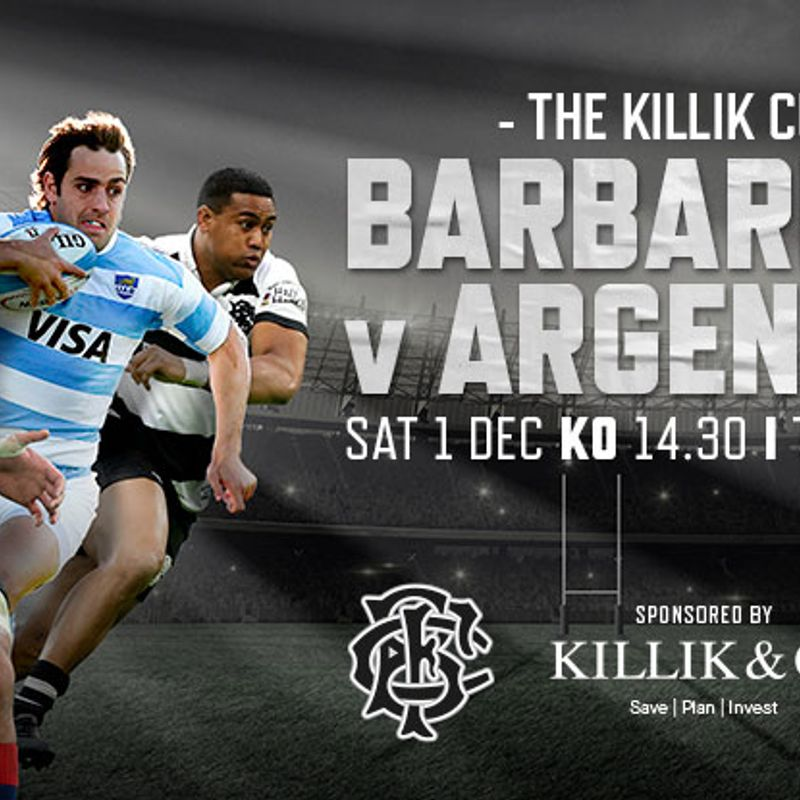 Re Saturday 1st Dec, club open at 2pm for Barbarians v Argentina on TV