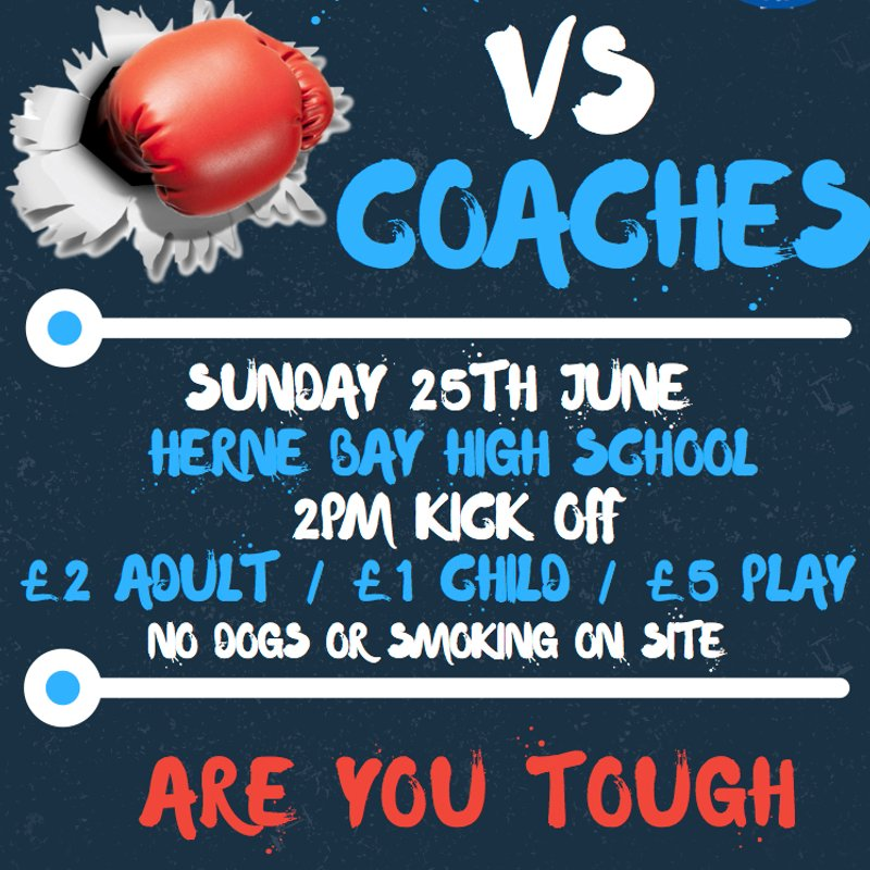 Parents vs Coaches charity match