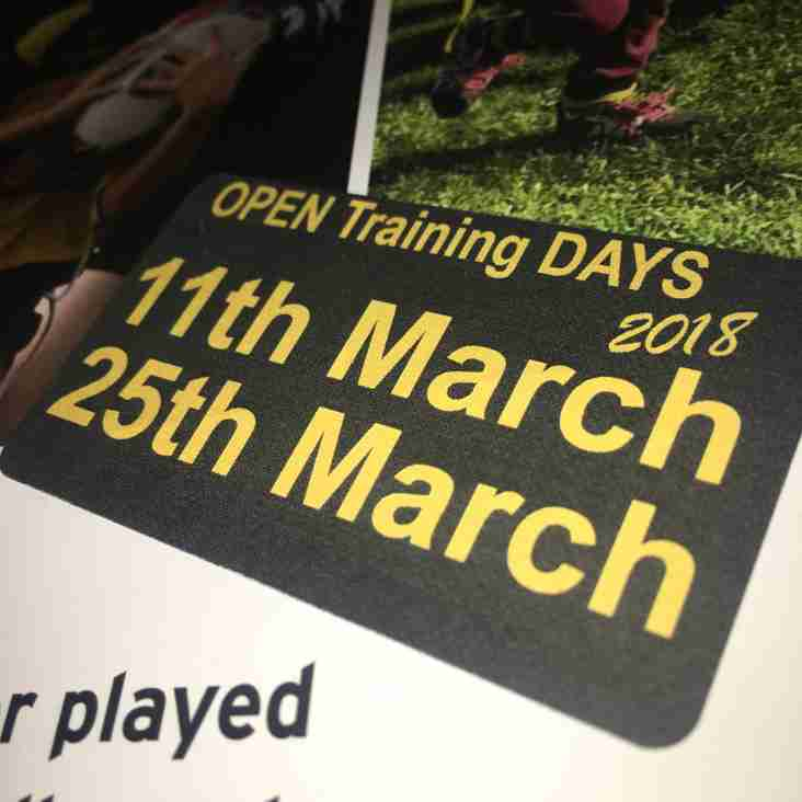 Minis Open Training Days