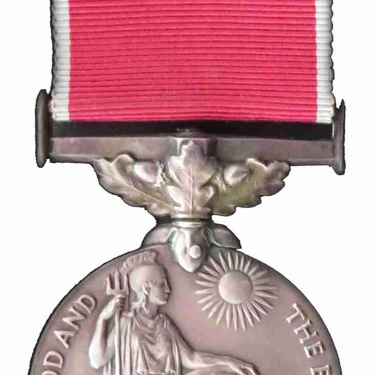 David Woodward receives his British Empire Medal