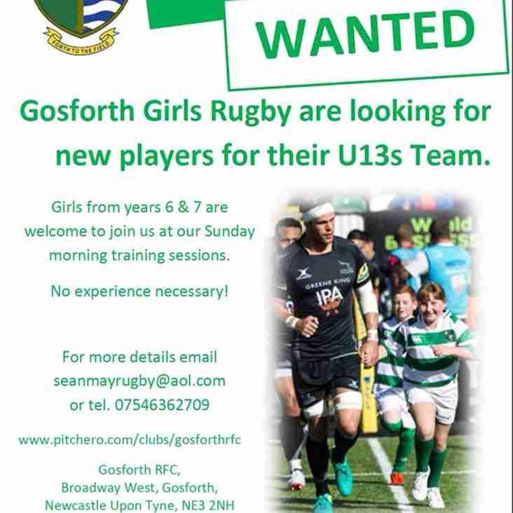 Gosforth Girls Rugby