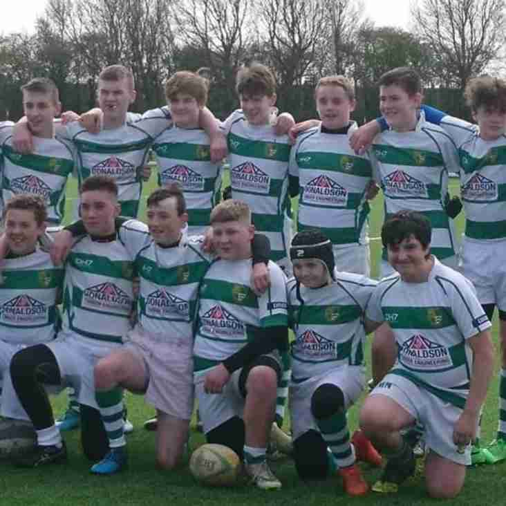 Gosforth under 14's win Cup