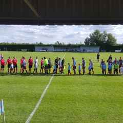 Under 8's Blue to mascot Rangers game against Boston Town