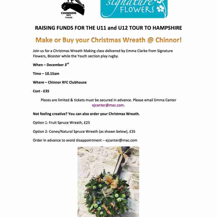 Ho Ho Ho....Get your Christmas Wreaths at Chinnor