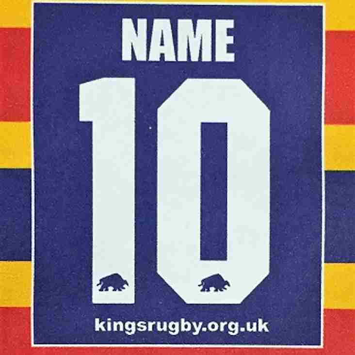 Personalised King's Rugby Shirts