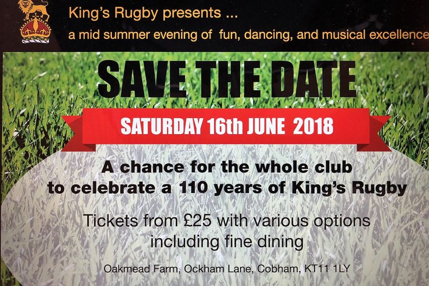 SAVE THE DATE - SATURDAY 16th JUNE 2018