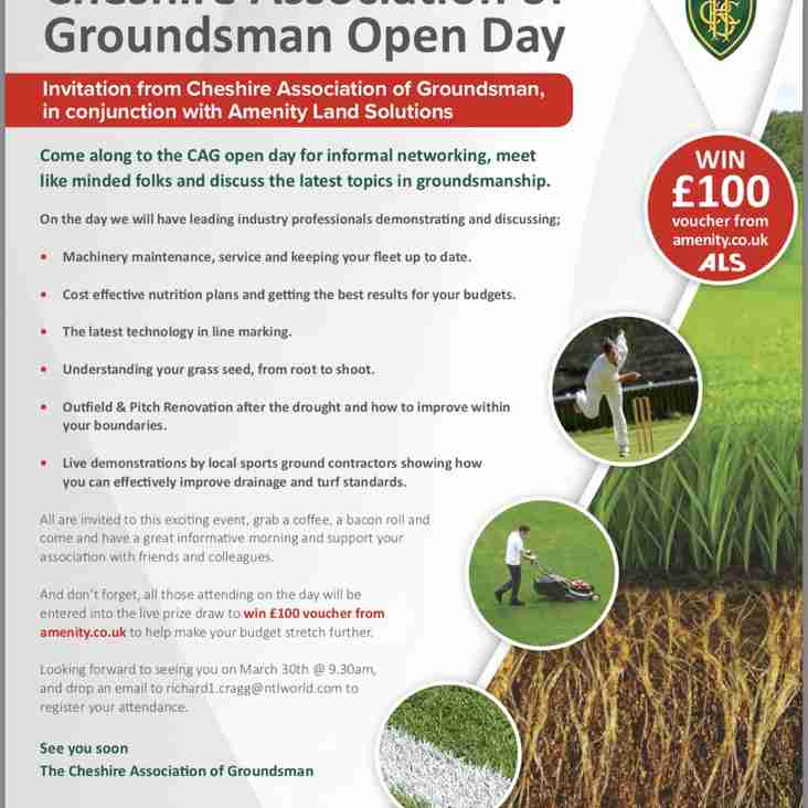 Open Day organised by the Cheshire Association of Groundsmen