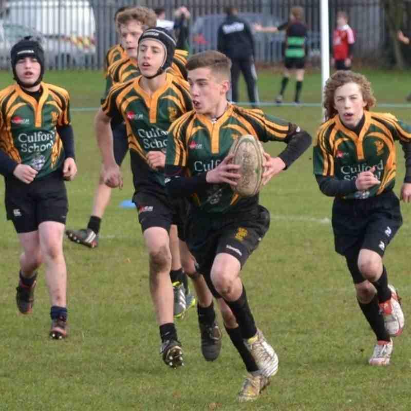 Newmarket RFC U14s v Bury St Edmunds U14s