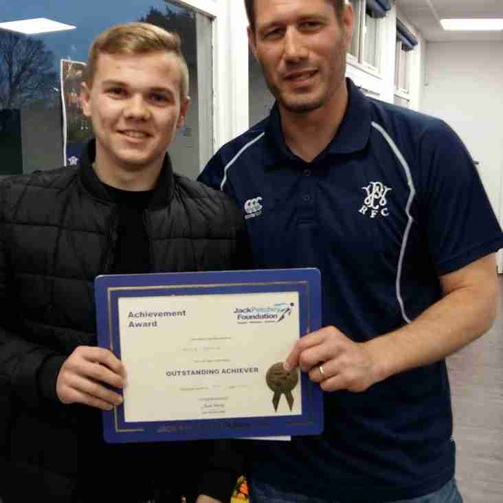 Well done to our latest Jack Petchey Award Winner