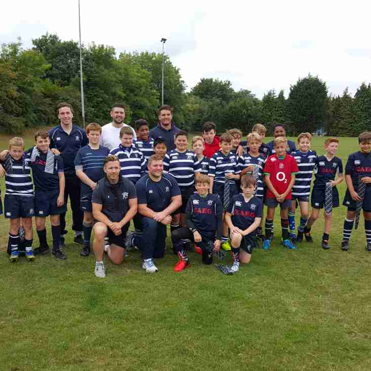U13s Hawks Officially Welcomed To Junior Rugby Today