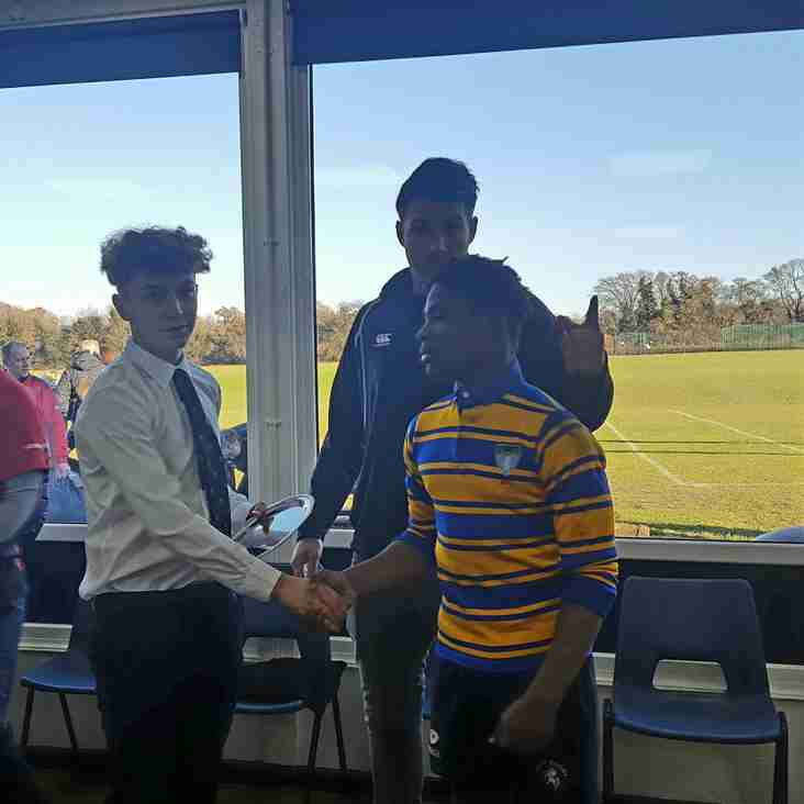 OUR U14s VS BECKENHAM - MAN OF THE MATCH