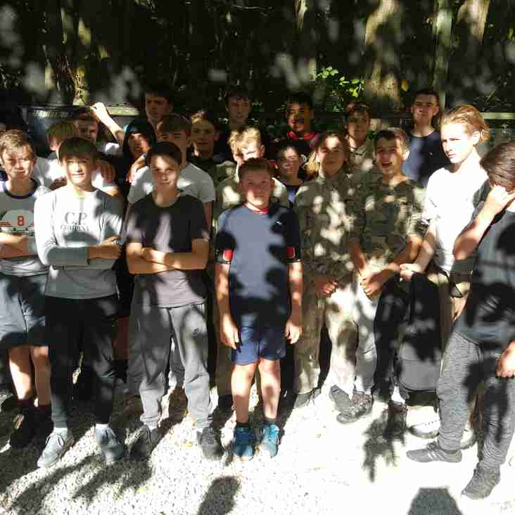 U15s HAWKS ENJOY AN AFTERNOON OF PAINTBALLING