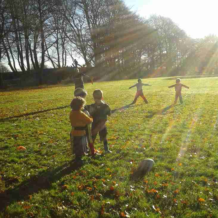 U6's training in the Autumnal sunshine
