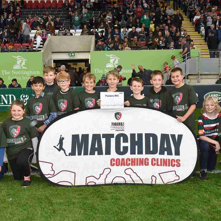 U10's have a full on day of Rugby at Leicester Tigers